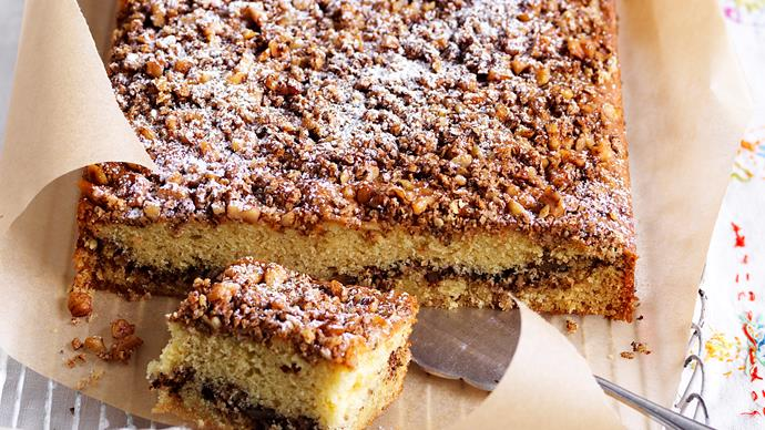 walnut slab cake recipe