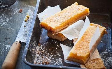 Lemon and rosemary oaty bar slice
