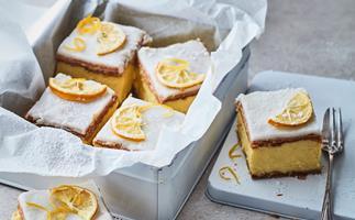 Lemon and gin custard squares