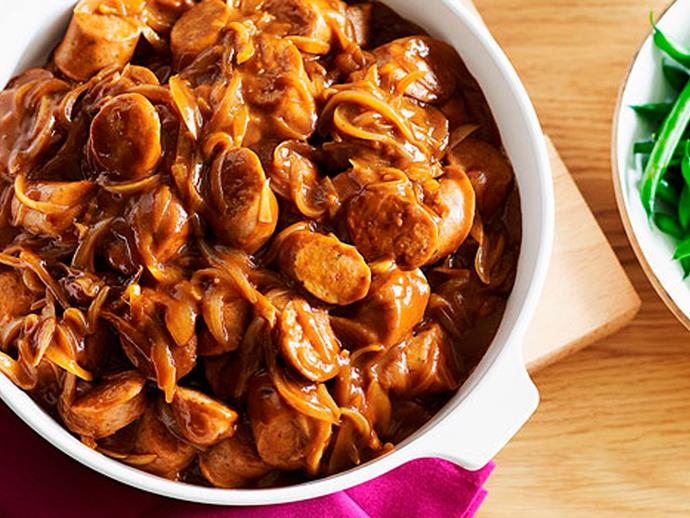 "**[Sausage casserole](https://www.womensweeklyfood.com.au/recipes/sausage-casserole-15609|target=""_blank"")**  A hearty dose of nostalgia for your weeknight meal."