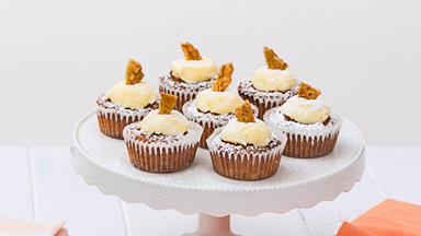 Hokey pokey cupcakes with creamy frosting