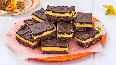 Chocolate Weet-Bix custard slice