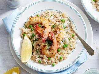 easy prawn risotto recipe