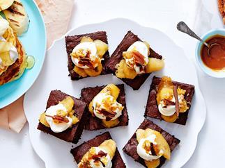 Banana split brownies