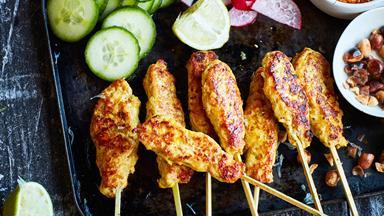 Super-easy Balinese chicken satay skewers