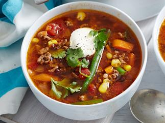 ground beef bean soup recipe