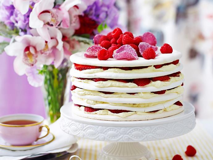 "Requested time and time again, this [gorgeous layer cake](https://www.womensweeklyfood.com.au/recipes/berry-and-rose-meringue-cake-2457|target=""_blank"") is a favourite for a reason - it's the perfect combination of sweet and stunning."