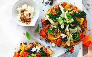 Roast vege pizza