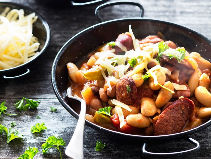 Boston beans with chorizo
