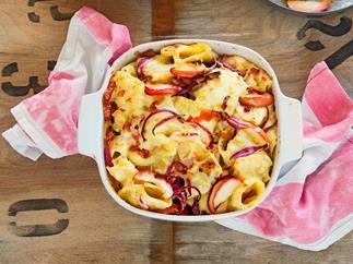 Alpine macaroni with roasted apples