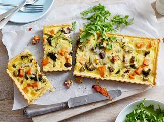 Leftover roast vegetable quiche
