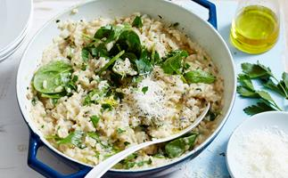 Leftover soup risotto