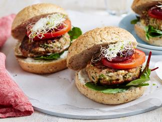 lamb burgers with feta and mint