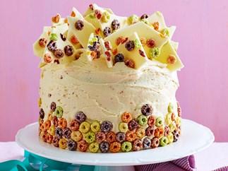 fruit loop birthday cake