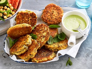 easy chickpea fritters recipe