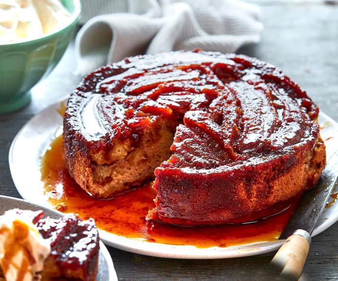 Caramelised banana toffee cake