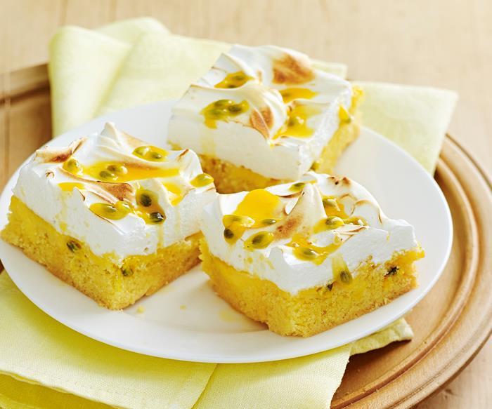 passionfruit meringue slice recipe