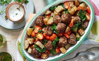 meatball and potato bake