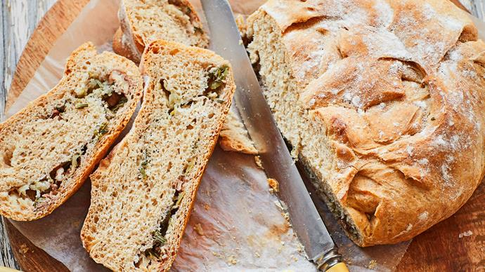 Rosemary and apple bread