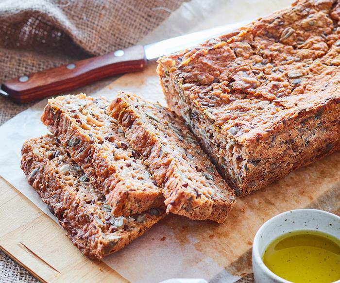 Carrot and seed bread