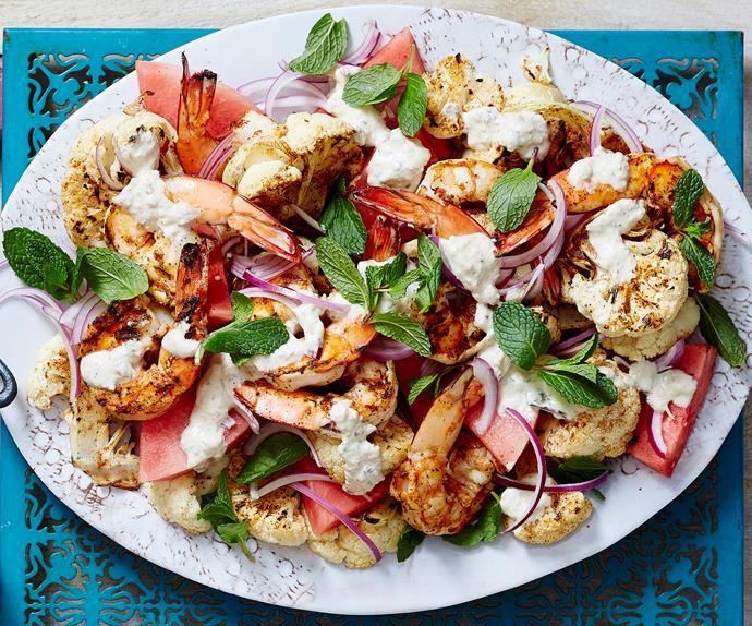 spiced roasted cauliflower salad