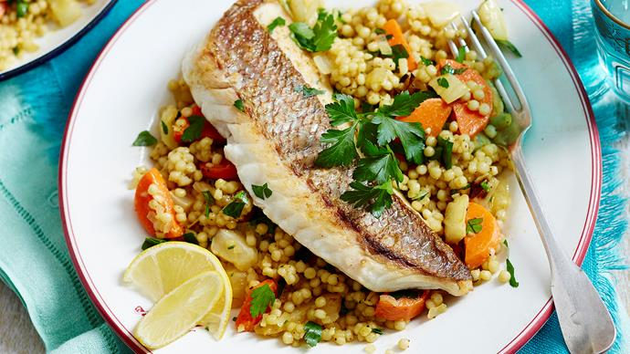 moroccan style fish with couscous recipe
