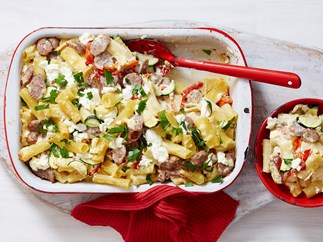 simple sausage pasta bake