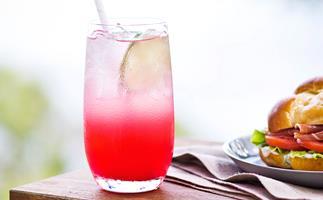 Ruby-red grapefruit mocktail