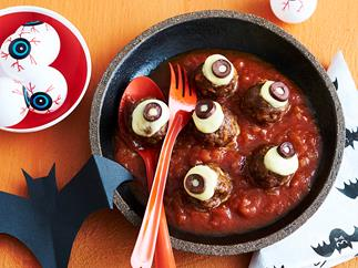 meatball eyes for halloween