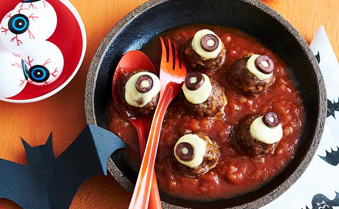meatball eyes for halloween