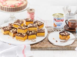 Best-ever caramel slice with salted peanut crunch