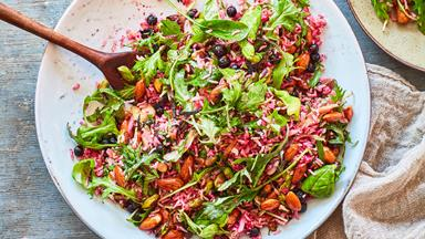 Nutty brown rice salad (gluten-free and dairy-free)