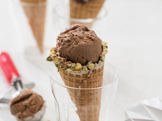 Simple no-churn dark chocolate ice cream