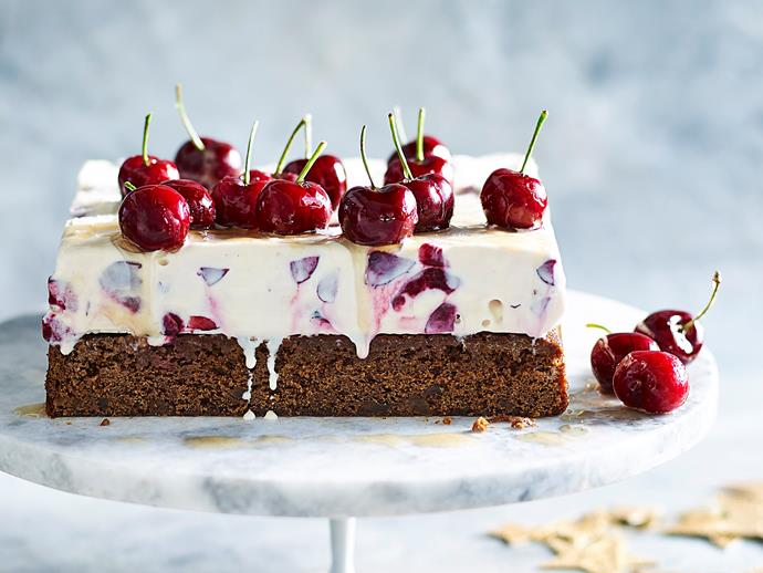 "**[Cherry and ginger ice-cream cake](https://www.womensweeklyfood.com.au/recipes/cherry-and-ginger-ice-cream-cake-2664|target=""_blank"")**  Traditional Christmas flavours are given a decadent update and a distinctly Australian twist in this cherry and ginger ice-cream cake. Topped with brandied cherries, it's sure to be the talk of the town."