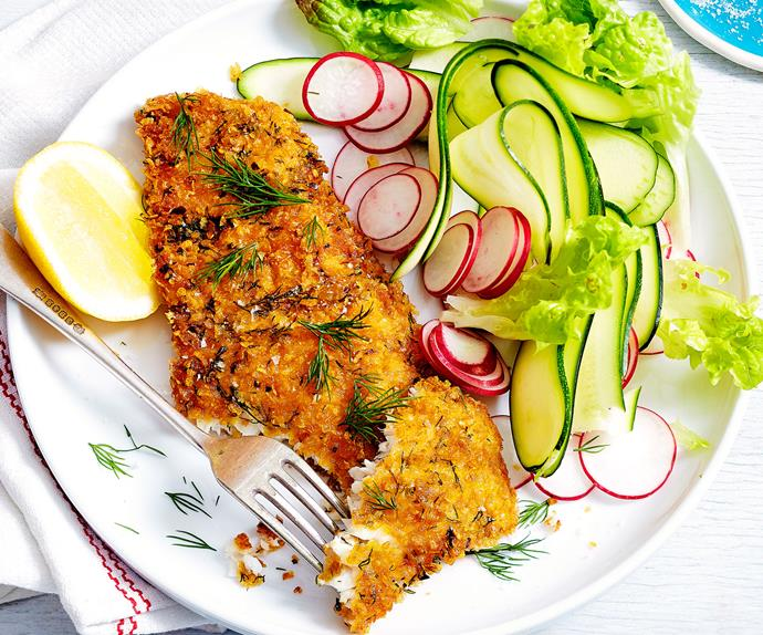 Lemon and chilli fish schnitzel