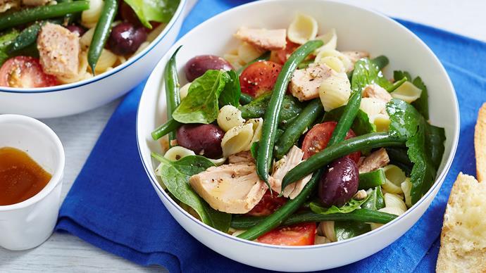 tuna nicoise pasta salad recipe