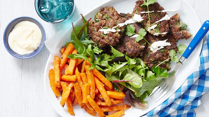 lamb and vegetable fritters