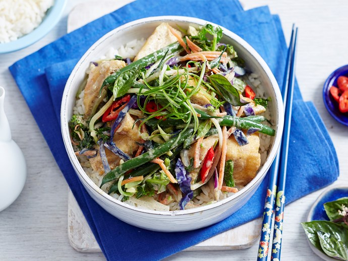thai green vegetable stir fry
