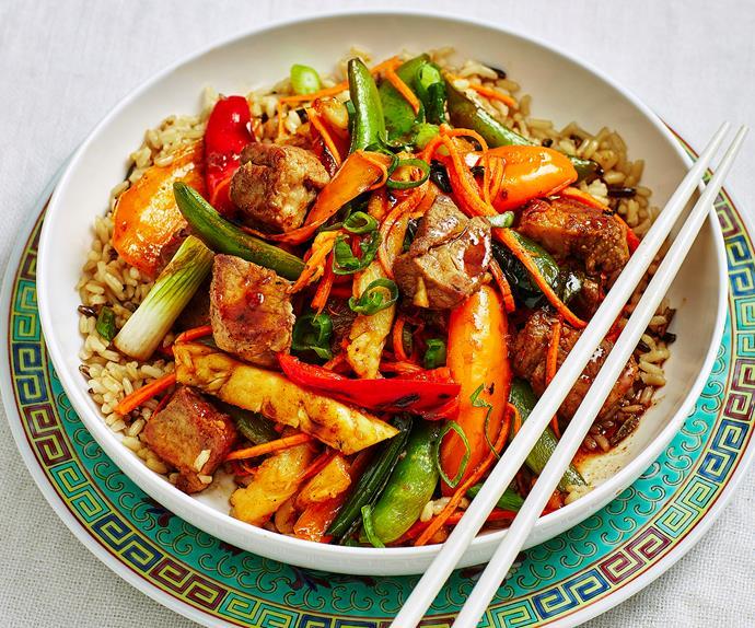 sweet and sour pork stir fry recipe
