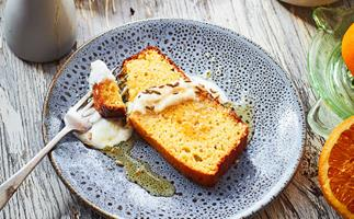 Olive oil and honey cake