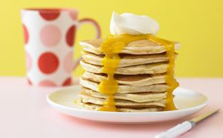 easy white chocolate chip pancakes