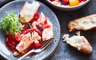 Smoky baked fish stew