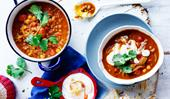 Chana dhal with chutney yoghurt