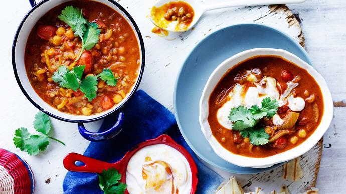 chickpea and lentil dahl recipe