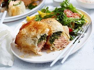 salmon parcels filo pastry