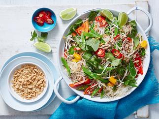 pork mince noodle salad