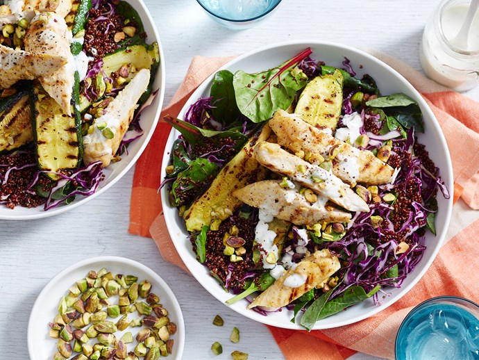 warm chicken and quinoa salad