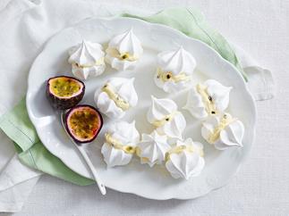 passionfruit meringue kisses