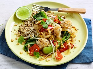 fish and vegetable stir fry