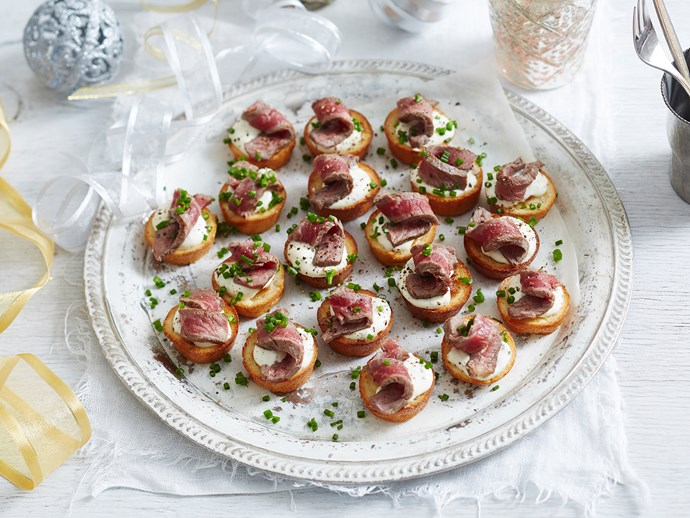 roast beef canapes